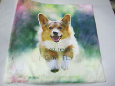 CORGI _I BELIEVE I CAN FLY Dog Pup Puppy cushion cover Throw pillow   Ca un10