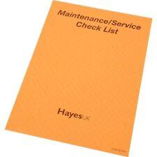 HAYES UK relazione Pastiglie manutenzione / controllo del servizio servizio List test elettrico
