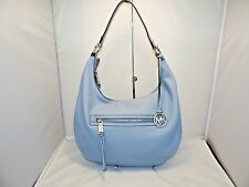 MICHAEL KORS Rhea Zip Large Top Zip Shoulder Hobo Bag Pale Blue Msrp 298.00 NEW!