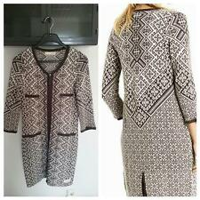 ODD MOLLY Golden Gauge Coat Cardigan Luxus Strickmantel Gr. 0 (1)