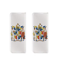 2x Birmingham forward-Gel abovedado número de placa insignias/calcomanías 107x42mm