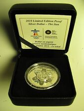 2010 Ltd Ed Proof The Sun Vancouver Olympics Ultra High Relief Silver Dollar UHR
