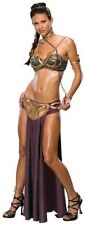 PRINCESS LEIA SLAVE COSTUME Outfit Adult XS Sexy STAR WARS Carrie Fisher NEW