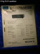 Sony Service Manual STR DA2ES /DB1080 FM/AM Receiver (#5218)