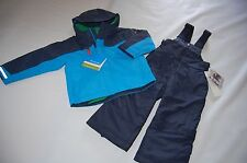 NEW Columbia boys Ice Slope Set Sledding Snowsuit Jacket Coat + Ski Bibs 2T