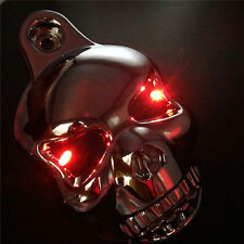 CHROME LED Skull Horn Cover Harly Big Twins V-Rods Stock Cowbell 92-13