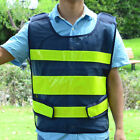 New Mesh Black High Visibility Security Reflective Safety Vest Traffic
