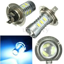 2X H7 15W 15 SMD LED Car DRL Fog Light Bulb Headlight Headlamp Bright Ice Blue