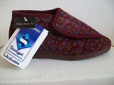 Crown Comfort washable ladies bootee slipper in Wine size 3EE UK - 36 EU