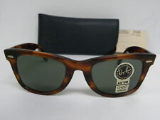 New Vintage B&L Ray Ban Wayfarer Mock Tortoise L2052 50mm Sunglasses USA NOS