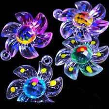 12 Large - 1-1/4 PLASTIC FLOWER CHARMS BIRD TOY PARTS ''