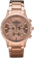 Emporio Armani AR2452 Men's Rose Gold Chronograph Watch Certificate Authenticity