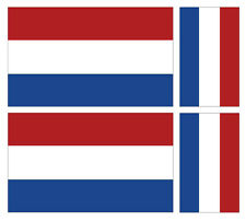 4 X DUTCH HOLLAND NETHERLANDS FLAG VINYL CAR VAN IPAD LAPTOP STICKER