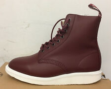 DR. MARTENS WHITON CHERRY RED SOFTY T   LEATHER  BOOTS SIZE UK 6
