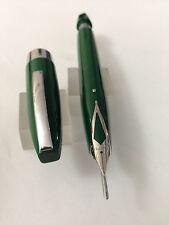 Very rare Sheaffer PFM I Green PdAg Medium Chrome trim Mint USA white sack