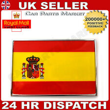NEW CHROME SELF ADHESIVE CAR STICKER BADGE 3D SPAIN FLAG EMBLEM + FREE GIFT