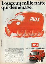 Publicité Advertising 1988  AVIS location de véhicules  MERCEDES E 307 D