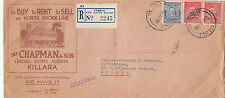 Stamps Australia 3d KGV uprated CHAPMAN & Son KILLARA advertising cover, nice