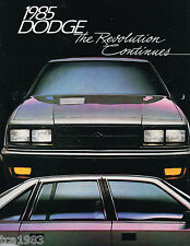 1985 Dodge LANCER/DAYTONA/CARAVAN/ARIES/VAN/DIPLOMAT/CHARGER/RAM PickUp Brochure