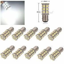 10x Xenon White 1157 BAY15D 5050 SMD 27 LED Tail Brake Stop Light Bulb Lamp 12V