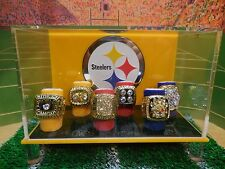 Pittsburgh Steelers Super Bowl Championship Ring Case With All 6 Rings
