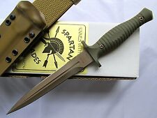 Spartan George V-14 Fixed Blade Fighting Knife Kydex Sheath Dark Earth Blade