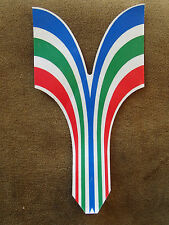 MULTI COLOUR CHEVRON CYCLE FRAME DECAL STICKER APPROX 165mm LONG