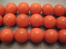 Shell Pearl Coral Pink Round 10mm Beads 40pcs