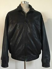 ANDREW MARC DESIGNER BROWN LEATHER JACKET MEN'S SIZE LARGE