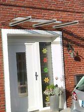 Edelstahl Vordach mit Klarglas VSG in 160cm x 45cm x 8,76mm