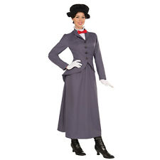 NANNY COSTUME MARY POPPINS VICTORIAN ADULT FANCY DRESS FEMALE