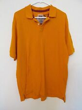 NEW WITH TAGS MEN'S SIDEOUT SOLID GOLDEN YELLOW POLO SHIRT COLLARED SIZE XL
