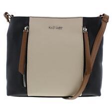 Nine West 0123 Womens Neala Black Colorblock Crossbody Handbag Purse Small BHFO