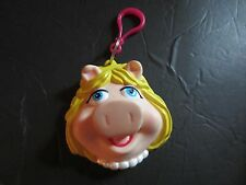 Plastic Miss Piggy Head slot Coin Purse  Keychain Girls Henson Muppets Applause
