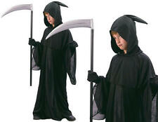 Childrens Kids Grim Reaper Fancy Dress Costume Death Halloween Childs Outfit L