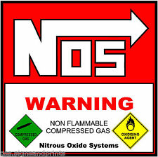 30 x 20 MM NOS / WARNING COMPRESSED GAS - DECAL PRINTED STICKER