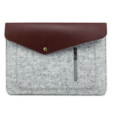 """NEW Universal Wool Felt Bag Sleeve Pouch Case Cover For 13.3"""" Laptop Macbook Pad"""