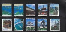 JAPAN 2010 (PREFECTURE) TRAVEL SCENERY SERIES NO. 9 SETO INLAND SEA 10 STAMPS FU