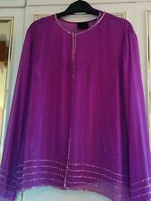 Frank Usher sequin evening top and jacket size 16 brand new Free P&P