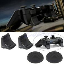 Dual Triggers Bonus Thumb Grip Silicone Caps Cover 4in1 Set For PS3 Controller