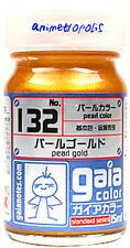GAIA COLOR LACQUER 132 Pearl GLD GUNDAM MODEL KIT PAINT 15ml NEW USA