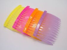 20 Mixed Color Plastic Hair Clips Side Combs Pin Barrettes 70x40mm for Ladies
