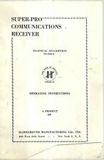 Super-Pro Communications Receiver Operating Instructions SP-400-X