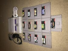 SNES Super Nintendo Console Game Bundle 13 games!