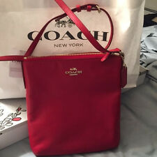 NWT Coach 56516E  RED Leather Crossbody Bag True Red