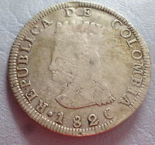 COLOMBIA COIN 8 REALES  1820 J.F F/VF REPAIRED