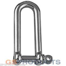 12mm A4-AISI 316 Stainless Steel Long D Shackle FREE POSTAGE + PACKAGING!
