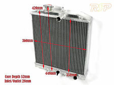UNIVERSAL KIT TRACK PROJECT CAR OR 4X4 ALLOY RADIATOR RAD CORE SIZE 360x350x52mm