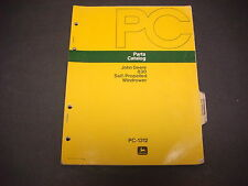 John Deere Parts Catalog No.PC-1312,830 Self Propelled Windrower,71 Pages