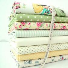 8 X FQ BUNDLE - CREAM GREEN CHINA DOLLS  - COTTON FABRIC MICHAEL MILLER
